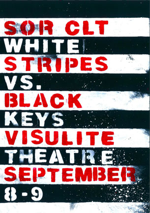 BLACK KEYS  VS THE WHITE STRIPES