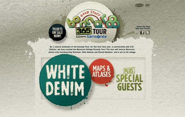 BONNAROO 365 TOUR featuring  WHITE DENIM