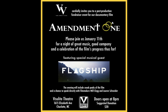 AMENDMENT ONE Documentary Fundraiser produced by Will Clegg and Lauren Schneider