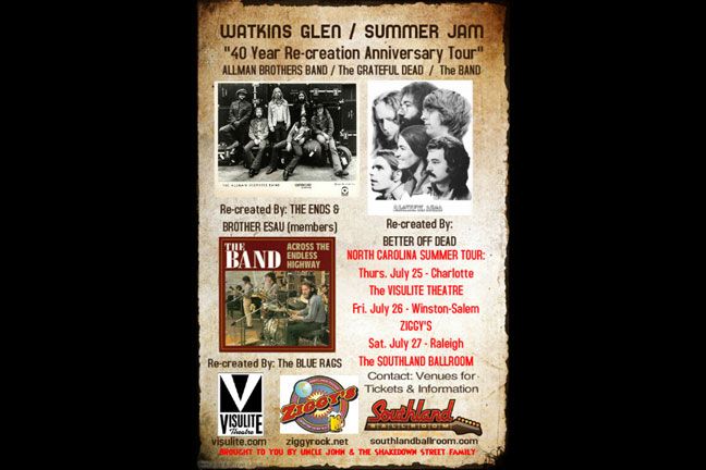 WATKINS GLEN / SUMMER JAM 40 Year Re-Creation Anniversary Tour