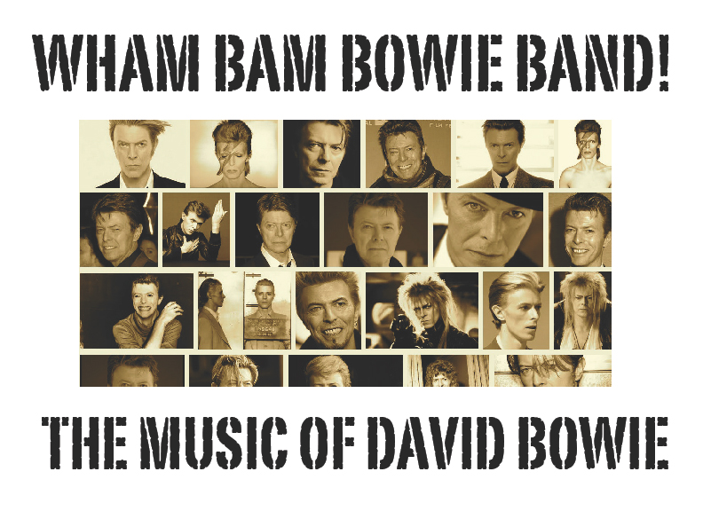 WHAM BAM BOWIE BAND - Friday, June 17, 2016 at Visulite Theatre