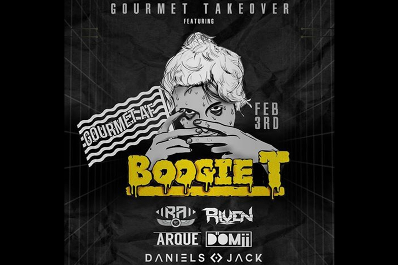 THE GOURMET TAKEOVER Featuring: BOOGIE T - Friday, February 3, 2017 at Visulite Theatre