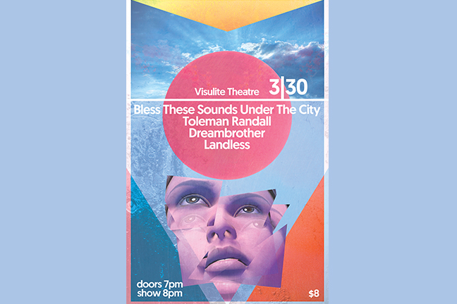 BLESS THESE SOUNDS UNDER THE CITY - Thursday, March 30, 2017 at Visulite Theatre