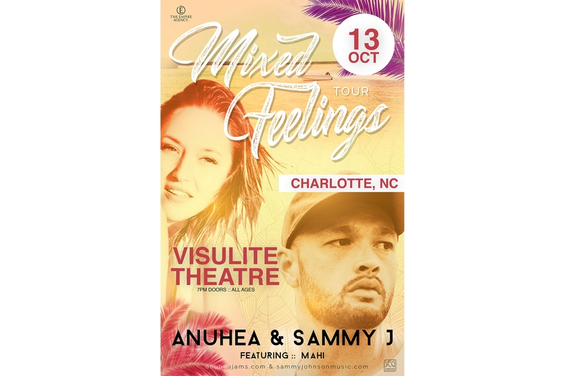 ANUHEA & SAMMY J MIXED FEELINGS TOUR